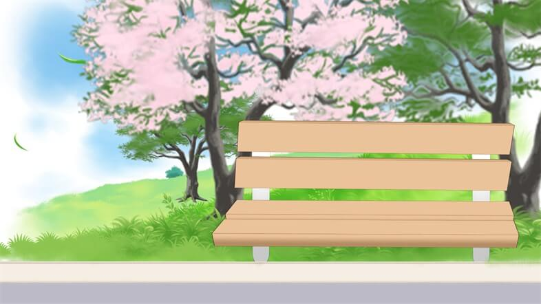 Comipo: Park background - REady bench