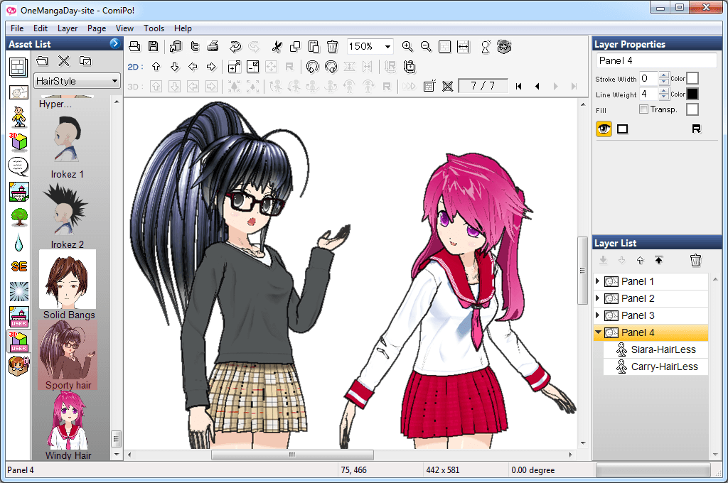 One Manga Day Converting Pmd Or New Hairstyles For Comipo